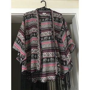 Boho inspired kimono top